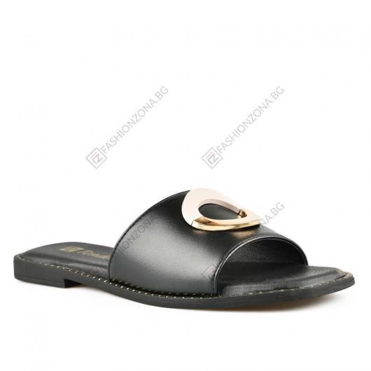 Черни дамски ежедневни чехли Danette