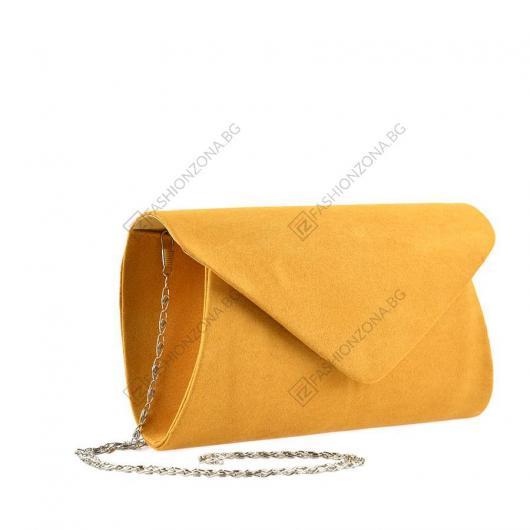 Жълта дамска елегантна чанта Reeta