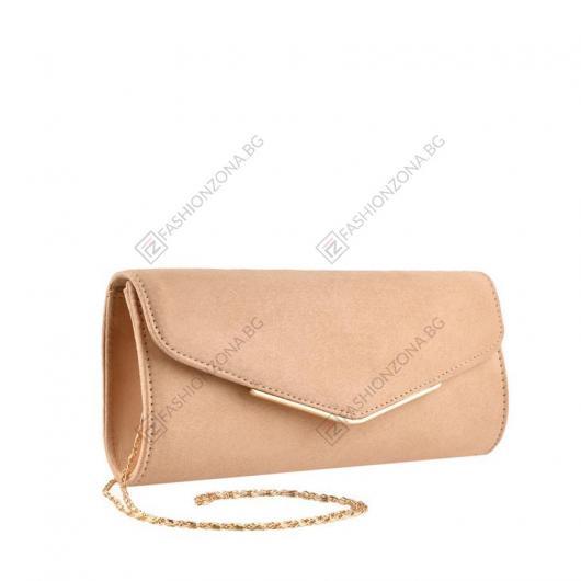 Бежова дамска елегантна чанта Era