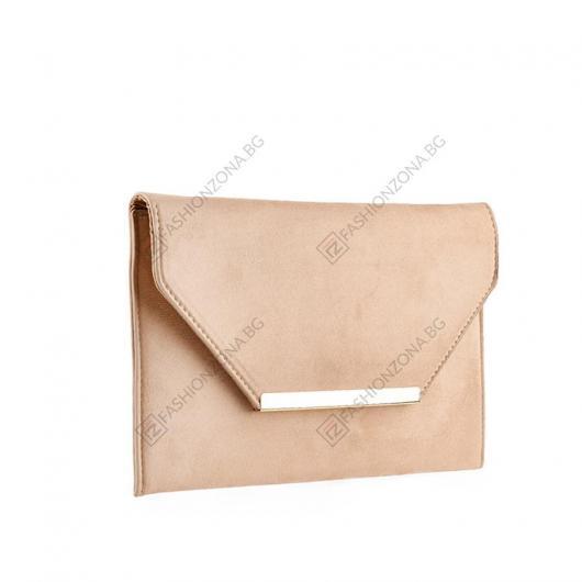 Бежова дамска елегантна чанта Liang