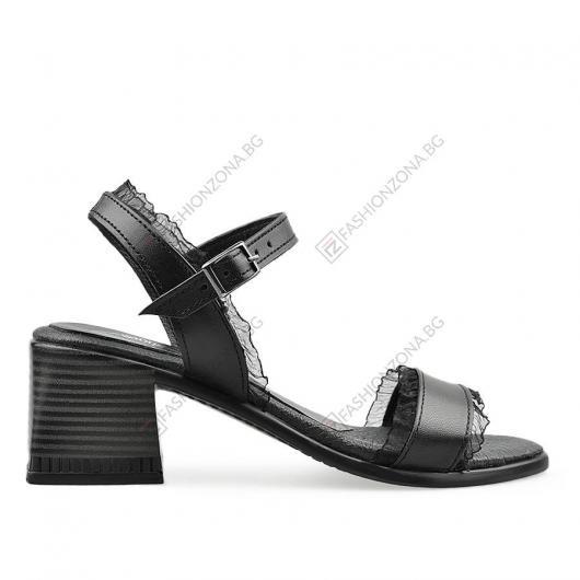 Черни дамски ежедневни сандали Tomasa