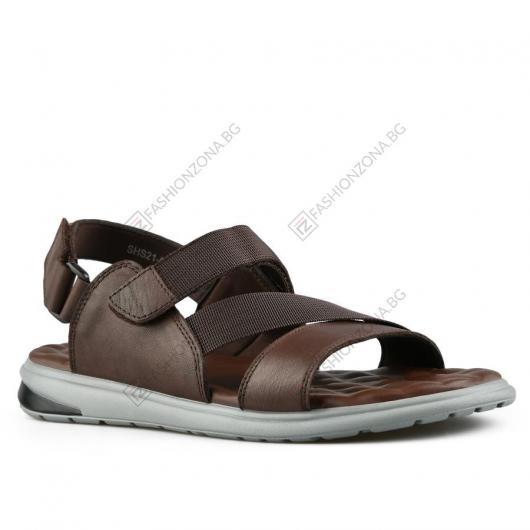 Кафяви мъжки ежедневни сандали Lando