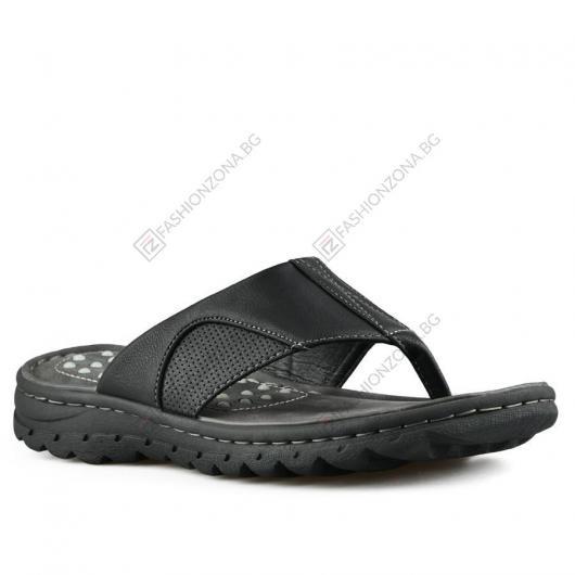 Черни мъжки ежедневни чехли Fredico
