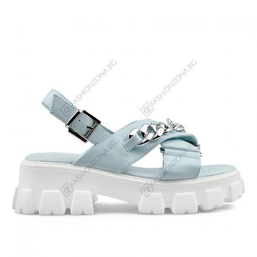 Сини дамски ежедневни сандали Bibiana