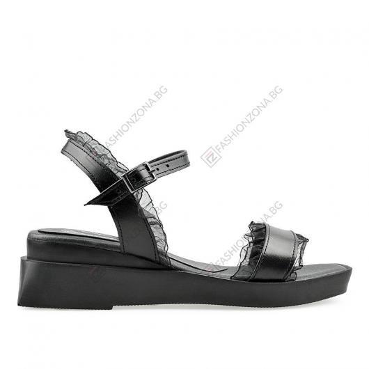 Черни дамски ежедневни сандали Bluma