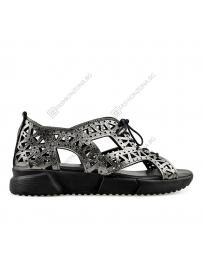 Сребристи дамски ежедневни сандали Cili