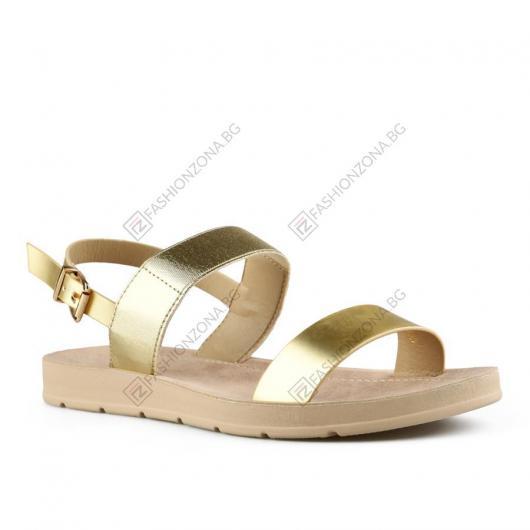 Златисти дамски ежедневни сандали Niesha