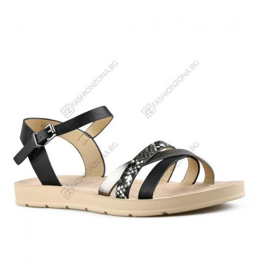 Черни дамски ежедневни сандали Leopolda