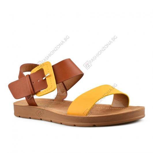 Жълти дамски ежедневни сандали Tadita