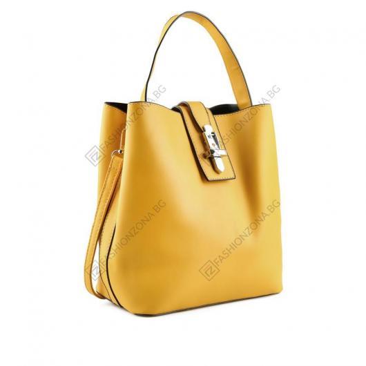 Жълта дамска ежедневна чанта Varya