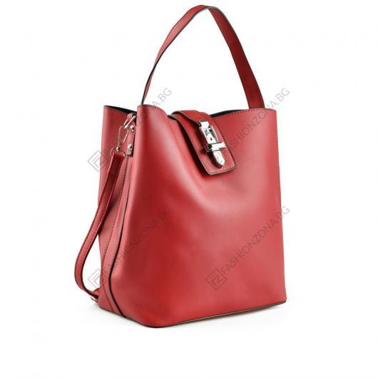 Червена дамска ежедневна чанта Hortensia
