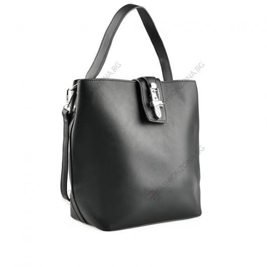 Черна дамска ежедневна чанта Rei