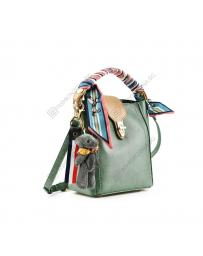 Зелена дамска ежедневна чанта Helle