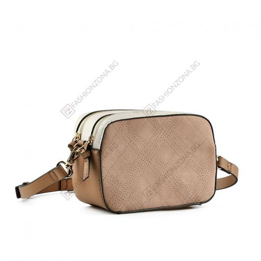 Бежова дамска ежедневна чанта Annukka