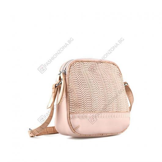 Розова дамска ежедневна чанта Nela