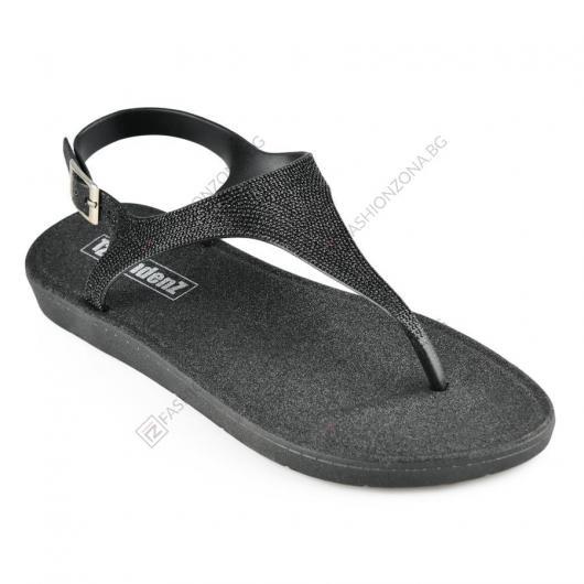 Черни дамски ежедневни сандали Gusta