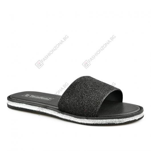 Черни дамски ежедневни чехли Avigail