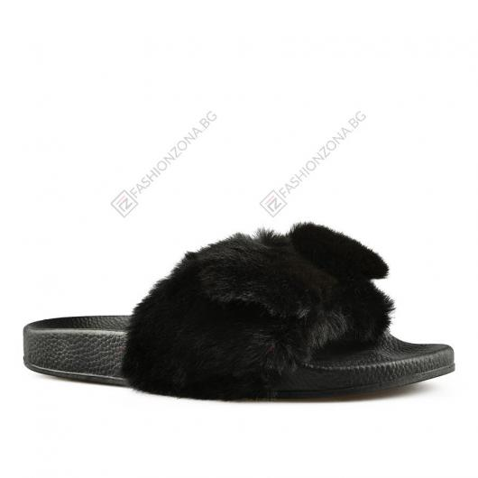 Черни дамски ежедневни чехли Minta
