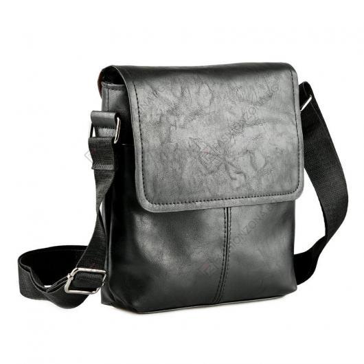 Черна мъжка ежедневна чанта Daniele
