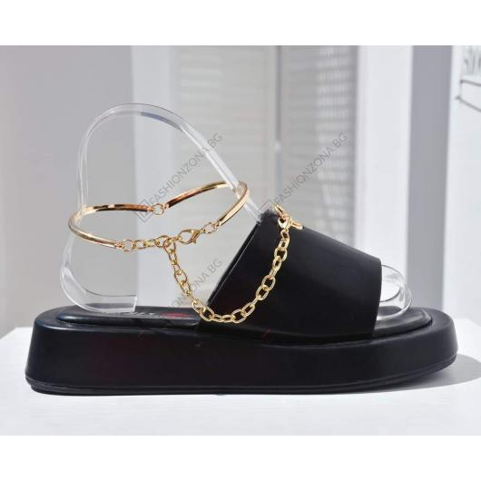 Черни дамски ежедневни чехли Gill