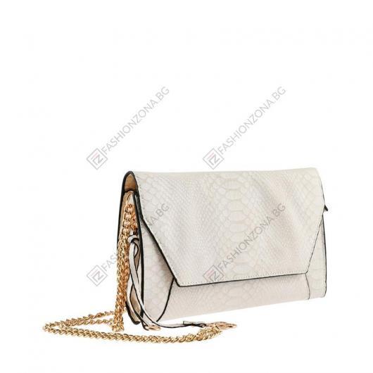 Бяла дамска ежедневна чанта Yonca