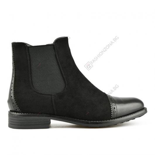 Черни дамски ежедневни боти с топъл хастар Sylvi