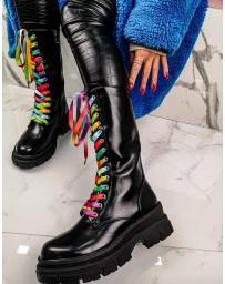 Черни дамски ежедневни ботуши Imma