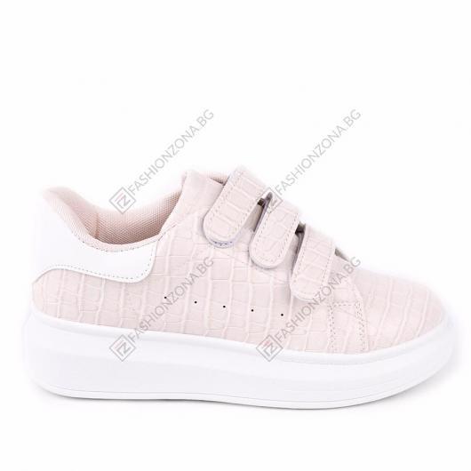 Бежови дамски ежедневни обувки Coba