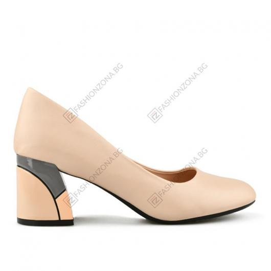 Бежови дамски елегантни обувки Folami