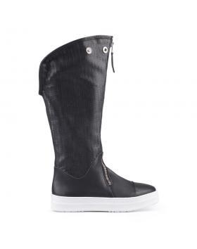 Черни дамски летни ботуши Vrinda в online магазин Fashionzona