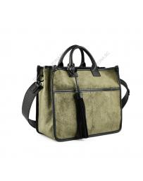 Зелена дамска чанта Zilla