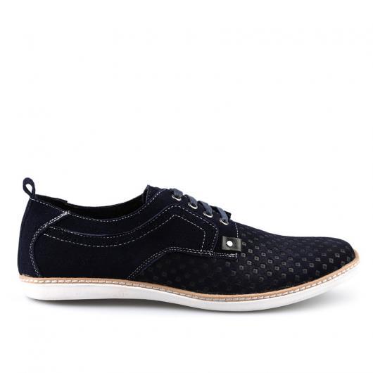 Тъмносини тъмносини мъжки ежедневни обувки Leonel