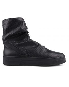 Черни дамски летни боти 0127675 в online магазин Fashionzona