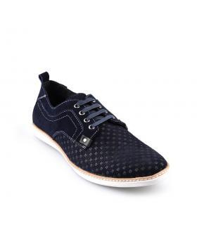 Тъмносини тъмносини мъжки ежедневни обувки Leonel в online магазин Fashionzona