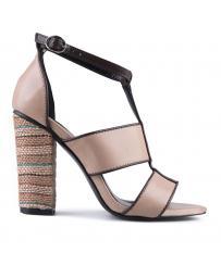 Бежови дамски елегантни сандали Argene в online магазин Fashionzona
