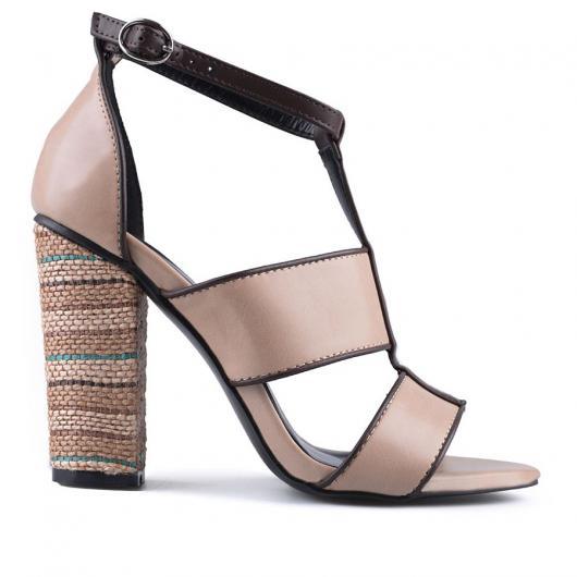 Бежови дамски елегантни сандали Argene