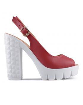 Червени дамски ежедневни сандали Jolisa в online магазин Fashionzona