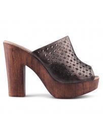 Кафяви дамски ежедневни чехли Usoa в online магазин Fashionzona