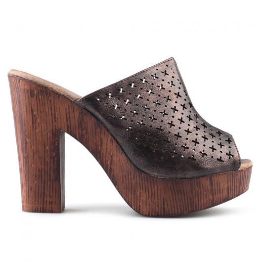 Кафяви дамски ежедневни чехли Usoa