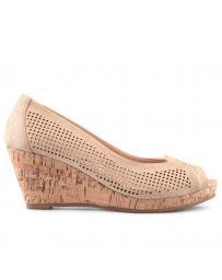 Бежови дамски ежедневни сандали Jaslynn в online магазин Fashionzona