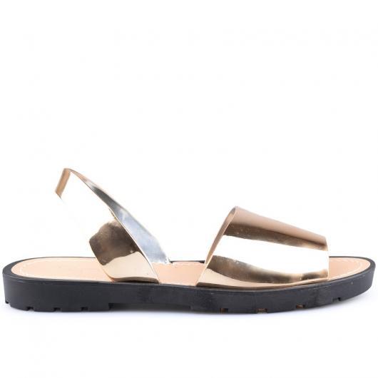 Златисти дамски силиконови сандали Noelleen