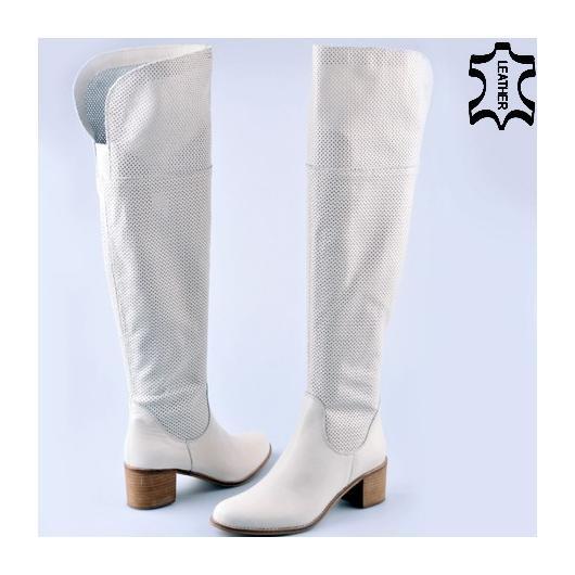 Бели дамски летни ботуши Esmae
