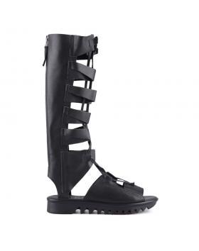 Черни дамски летни ботуши 0128368 в online магазин Fashionzona
