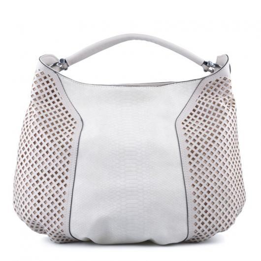 Бяла дамска ежедневна чанта Roana