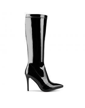 Черни дамски елегантни ботуши 0128723 в online магазин Fashionzona