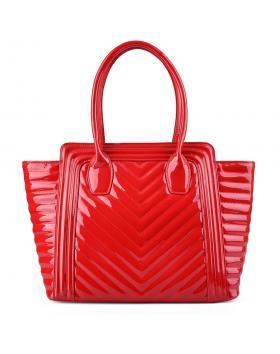 Червена дамска ежедневна чанта 0128232 в online магазин Fashionzona
