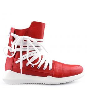 Червени дамски ежедневни боти 0125602 в online магазин Fashionzona