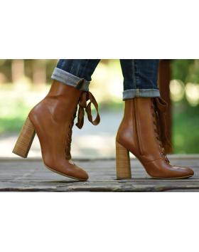 дамски елегантни боти кафяви 0128086 в online магазин Fashionzona