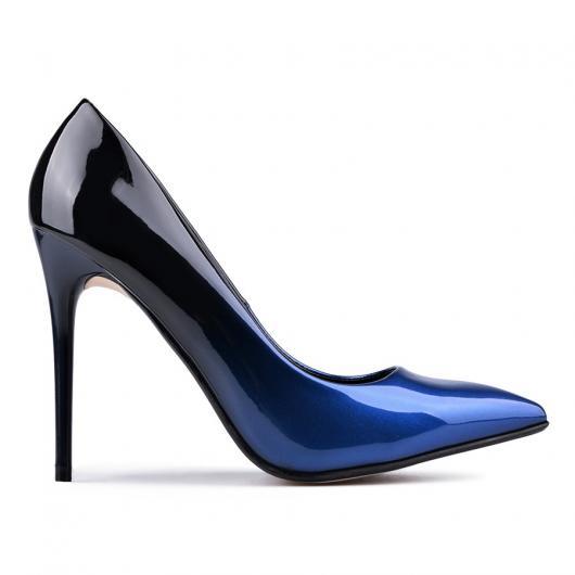 Сини дамски елегантни обувки 0128731