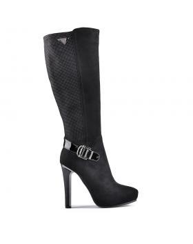 Черни дамски елегантни ботуши 0128532 в online магазин Fashionzona